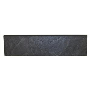 Daltile Continental Slate Asian Black 3 in. x 12 in. Porcelain Bullnose Floor and Wall Tile-CS53S43C91P1 202624030