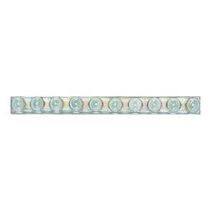 Daltile Cristallo Glass Aquamarine 3/4 in. x 8 in. Glass Bead Accent Wall Tile-CR50348DECO1P 202647690