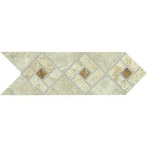 Daltile Heathland Sunrise Blend 4 in. x 12 in. Glazed Ceramic Decorative Accent Floor and Wall Tile-HL07412DECO1P2 203719582