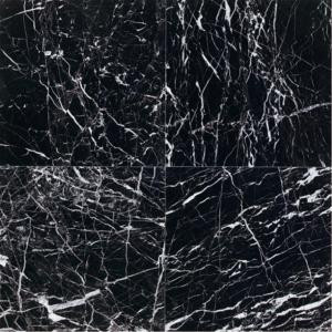 Daltile Natural Stone Collection China Black-Polished 12 in. x 12 in. Marble Floor and Wall Tile (10 sq. ft. / case)-M75112121L 202646808