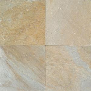 Daltile Natural Stone Collection Golden Sun 12 in. x 12 in. Slate Floor and Wall Tile (10 sq. ft. / case)-S78312121P 202646823