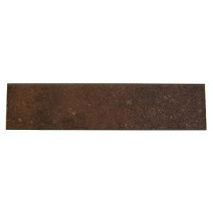 Daltile Terra Antica Rosso 3 in. x 12 in. Porcelain Surface Bullnose Floor and Wall Tile-TA02P43C91P1 202624045
