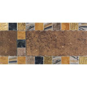 Daltile Terra Antica Rosso 6 in. x 12 in. Porcelain Decorative Accent Floor and Wall Tile-TA02612DECO1PS 202624043