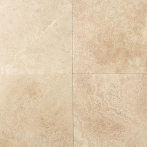 Daltile Travertine Mediterranean Ivory 12 in. x 12 in. Natural Stone Floor and Wall Tile (10 sq. ft. / case)-T73012121U 202646856