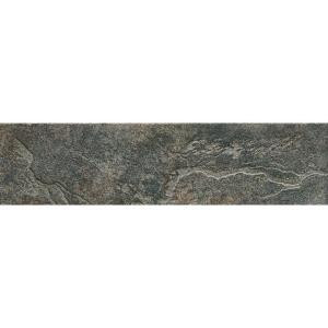ELIANE Mt. Everest Nero 3 in. x 12 in. Glazed Porcelain Bullnose Floor and Wall Tile-8009760 202070748