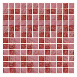 Epoch Architectural Surfaces Irridecentz I-Red-1415 Mosiac Recycled Glass Mesh Mounted Tile - 3 in. x 3 in. Tile Sample-I-RED SAMPLE 203153236