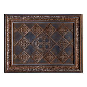 EXPO Castle Metals 12 in. x 16 in. Wrought Iron Metal Clover Mural Wall Tile-CM021216DECO1P 202648449