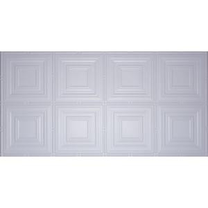 Global Specialty Products Dimensions Faux 2 ft. x 4 ft. Tin Style Ceiling and Wall Tiles in White-320 204592048