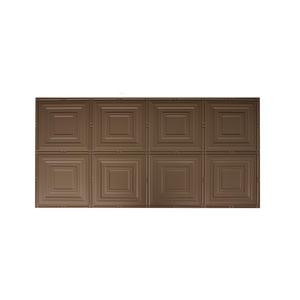 Global Specialty Products Dimensions Faux 2 ft. x 4 ft. Tin Style Ceiling and Wall Tiles in Bronze-320-03 204592065