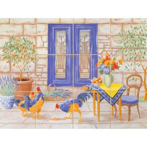 imagine tile French Country 24 in. x 18 in. Ceramic Mural Wall Tile (3 sq. ft. / case)-3301ES06 204660296