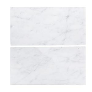Jeff Lewis 6 in. x 12 in. Italian White Carrara Honed Marble Field Wall Tile (2-pieces/pack)-98451 207174581