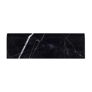 Jeff Lewis Nero Marquina 4 in. x 12 in. Polished Marble Base Trim-98455 207174584