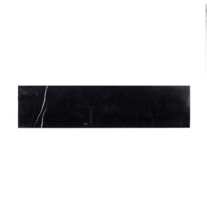 Jeff Lewis Nero Marquina 4 in. x 16 in. Polished Marble Field Wall Tile (8 sq. ft. / case)-98459 207189268