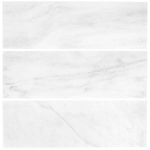 Jeffrey Court Carrara 4 in. x 12 in. Honed Marble Wall Tile (3-Pack)-99786 205110672