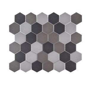 Jeffrey Court Graphite 11 in. x 12.625 in. x 5 mm Porcelain Mosaic Tile-99397 206824008