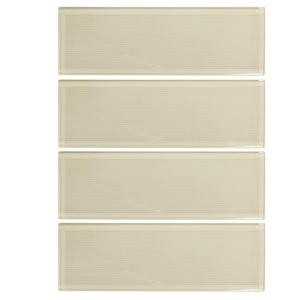 Jeffrey Court Havana Cream 3 in. x 12 in. x 8 mm Glass Tile-99753 204659748