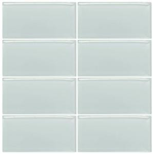 Jeffrey Court Morning Mist 3 in. x 6 in. Glass Wall Tile-99504 202663551