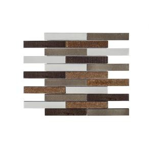 Jeffrey Court Volcanic River 11-7/8 in. x 11.937 in. x 10 mm Basalt Mosaic Tile-99269 206955401