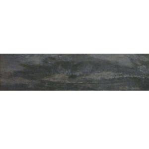 MARAZZI Montagna Smoky Black 6 in. x 24 in. Glazed Porcelain Floor and Wall Tile (14.53 sq. ft. / case)-ULM9 204485221