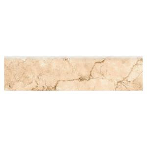 MARAZZI VitaElegante Crema 3 in. x 12 in. Glazed Porcelain Bullnose Floor and Wall Tile-ULRUP43C9CC1P1 205982205