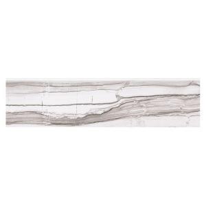 MARAZZI VitaElegante Grigio 3 in. x 12 in. Glazed Porcelain Bullnose Floor and Wall Tile-ULRTP43C9CC1P1 205982196