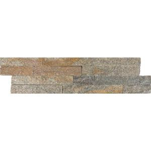 MS International Amber Falls Ledger Panel 6 in. x 24 in. Natural Quartzite Wall Tile (10 cases / 60 sq. ft. / pallet)-LPNLQAMBFAL624 206091632