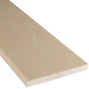 MS International Beige Single Beveled Threshold 6 in. x 73 in. Polished Engineered Marble Floor and Wall Tile-THD2BE6X73SB 205146254