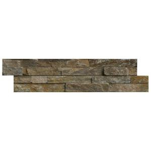 MS International Canyon Creek Ledger Panel 6 in. x 24 in. Natural Quartzite Wall Tile (10 cases / 40 sq. ft. / pallet)-LPNLQCANCRE624 206060402