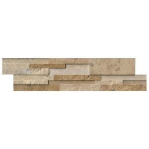 MS International Casa Blend 3D Multi Finish Ledger Panel 6 in. x 24 in. Natural Quartzite Wall Tile (10 cases / 80 sq. ft. / pallet)-TCASBLE624-3DHS 206060411