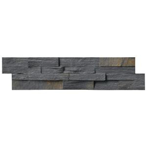 MS International Charcoal Rust Ledger Panel 6 in. x 24 in. Natural Quartzite Wall Tile (10 cases / 40 sq. ft. / pallet)-LPNLSCHARUS624 206060407
