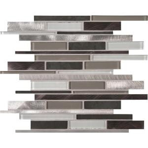 MS International Cityscape Interlocking 12 in. x 12 in. x 8 mm Glass and Metal Mesh-Mounted Mosaic Wall Tile (10 sq. ft. / case)-GLSMTIL-CS8MM 204695047