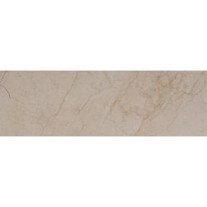 MS International Crema Marfil 4 in. x 12 in. Polished Marble Floor and Wall Tile (5 sq. ft. / case)-TCREMAR412P 206873868