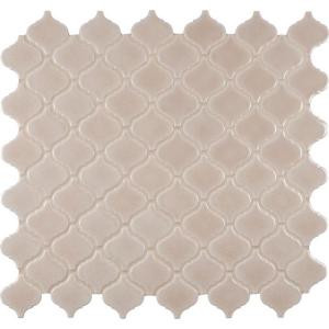 MS International Fog Arabesque 9.84 in. x 10.63 in. x 6 mm Glazed Ceramic Mesh-Mounted Mosaic Tile (10.95 sq. ft. / case)-PT-FOG-ARABESQ 205891739