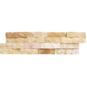 MS International Fossil Rustic Ledger Panel 6 in. x 24 in. Natural Quartzite Wall Tile (10 cases / 40 sq. ft. / pallet)-LPNLDFOSRUS624 206060401