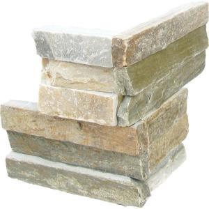 MS International Golden Honey Ledger Corner 6 in. x 6 in. Natural Quartzite Wall Tile (6 sq. ft. / case)-LPNLQGLDHON66C 203339849