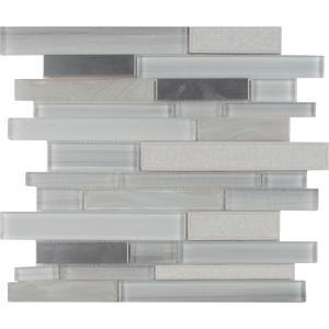 MS International Krystal Interlocking 12 in. x 12 in. x 8 mm Glass/Metal Mesh-Mounted Mosaic Tile (10 sq. ft. / case)-GLSMTIL-KRY8MM 206744771