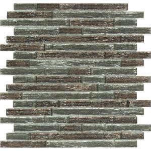 MS International Luxe Interlocking 11.81 in. x 11.81 in. x 8 mm Glass Mesh-Mounted Mosaic Tile (9.69 sq. ft. / case)-GLSIL-LUX8MM 300051502