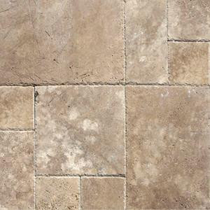 MS International Mediterranean Walnut Pattern Honed-Unfilled-Chipped Travertine Floor and Wall Tile (5 Kits / 80 sq. ft. / Pallet)-TTWAL-PAT-HUFC 204163995