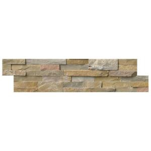 MS International Nevada Gold Ledger Panel 6 in. x 24 in. Natural Quartzite Wall Tile (10 cases / 60 sq. ft. / pallet)-LPNLQNEVGLD624 206060405