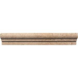 MS International Noche 2 in. x 12 in.Travertine Crown Molding Wall Tile-MCR-NC2X12 100664279