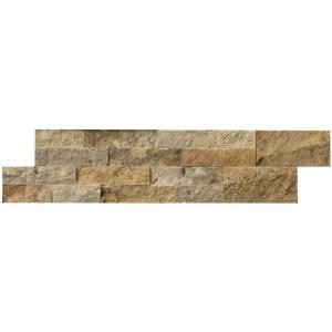 MS International Picasso Ledger Panel 6 in. x 24 in. Natural Travertine Wall Tile (10 cases / 60 sq. ft. / pallet)-LHDPNLTPIC624 205960138