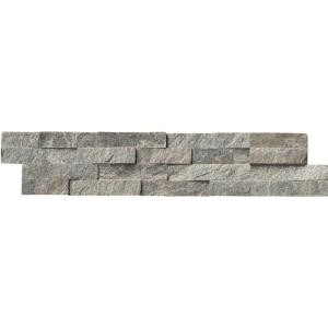 MS International Sage Green Ledger Panel 6 in. x 24 in. Natural Quartzite Wall Tile (10 cases / 60 sq. ft. / pallet)-LPNLQSAGGRN624 206060406