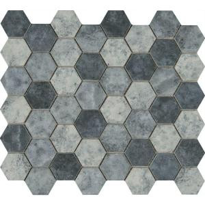MS International Urban Tapestry Hexagon 12 in. x 12 in. x 6 mm Glass Mesh-Mounted Mosaic Tile (15 sq. ft. / case)-SMOT-GLS-UT6MM 206279729