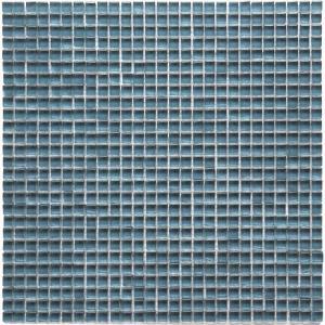 Solistone Atlantis Dorado Polished Blue 11-3/4 in. x 11-3/4 in. x 6 mm Glass Mosaic Tile (9.58 sq. ft. / case)-9142p 206017038
