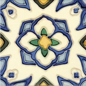 Solistone Hand-Painted Jirasol Deco 6 in. x 6 in. Ceramic Wall Tile (2.5 sq. ft. / case)-CJirasol66 202018615