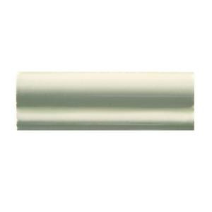 Solistone Hand-Painted Nieve White 2 in. x 6 in. Ceramic Chair Rail Trim Wall Tile-NIEVE-CR 206075266