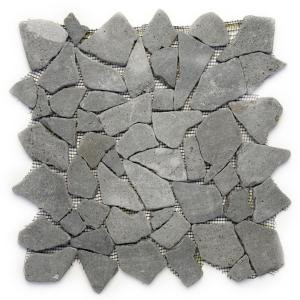 Solistone Indonesian Java Black 12 in. x 12 in. x 6.35 mm Natural Stone Pebble Mesh-Mounted Mosaic Tile (10 sq. ft. / case)-6010 100659955