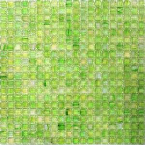 Splashback Tile Breeze Green Apple Stained Glass Mosaic Wall Tile - 3 in. x 6 in. Tile Sample-R7A13 206496972