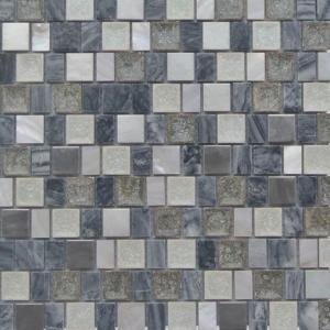 Splashback Tile Charm II Rocky Glass and Stone Floor and Wall Tile - 3 in. x 6 in. Tile Sample-SMP-CHRM-II-ROCKY-GLASTONESAMPLE 206347077