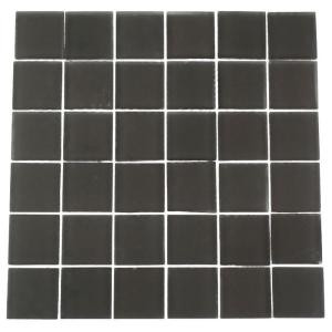 Splashback Tile Contempo Smoke Gray 12 in. x 12 in. x 8 mm Frosted Glass Mosaic Floor and Wall Tile-CONTEMPOSMOKEGRAYFROSTED2X2GLASSTILE 203288482